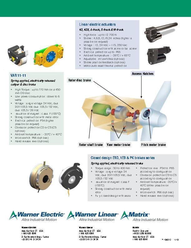 Electric Clutches & Brakes for Wind Turbines
